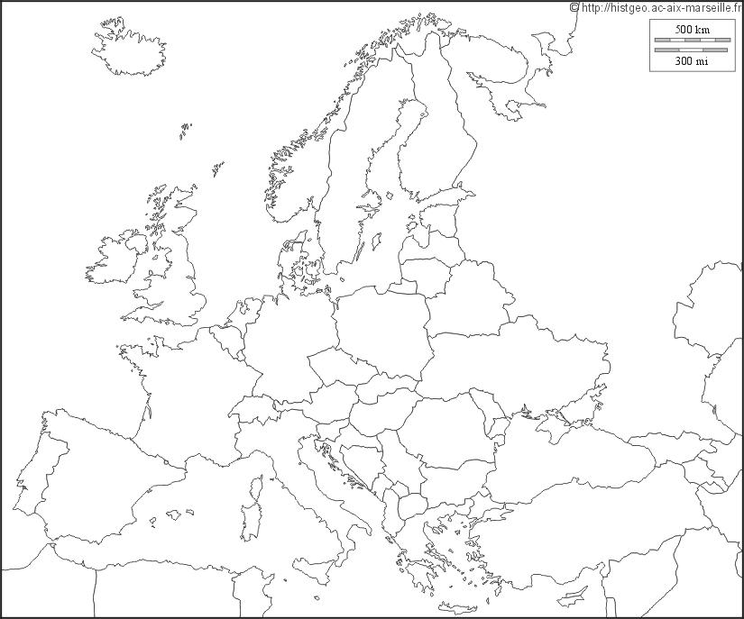 fond carte europe